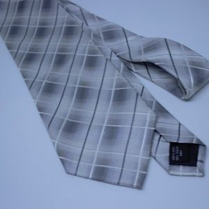 Pierre Cardin Men's Silk Tie Ombre Plaid